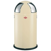 Wesco Push-Two Recycling Bin - designer almond kitchen bin