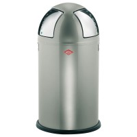 Wesco Push-Two Recycling Bin - stylish silver kitchen bin