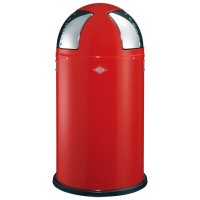 Wesco Push-Two Recycling Bin (Red) - Red Candy