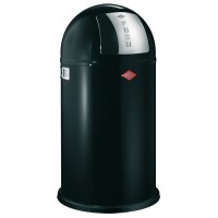 Wesco Pushboy Bin - black retro 50L designer kitchen bin