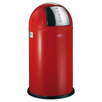 Wesco Pushboy Bin - designer modern red kitchen bin