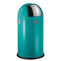 Wesco Pushboy Bin - stylish turquoise modern kitchen bin