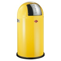 Wesco Pushboy Bin - lemon yellow designer kitchen bin