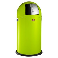 Wesco Pushboy Bin - lime green modern kitchen bin