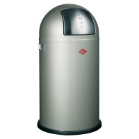 Wesco Pushboy Bin - designer silver modern kitchen trash can