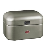 Wesco Single Grandy Bread Bin – designer silver bread bin