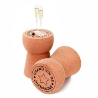 Giant Champagne Cork Side Table - novelty cork table - XL CORK