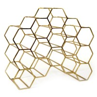 Pico 15 Stackable Wine Rack - Brass - XLBoom honeycomb wine store