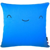 Yo Kawaii Cushion Friend - yukii blue square cushion