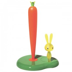 Alessi Bunny and Carrot Kitchen Roll Holder - green towel holder