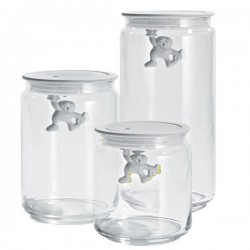 Alessi Gianni Storage Jar - white glass kitchen box