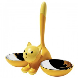 Alessi Tigrito Cat Bowl (Yellow) - Red Candy