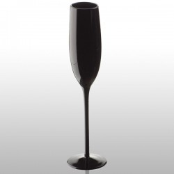 Black Champagne Glass - black Champagne flute - Artland Midnight