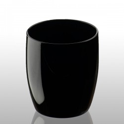 Black Tumbler - Artland Midnight - black drinking glass