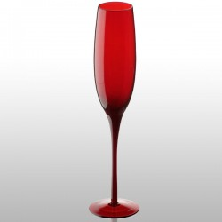 Artland Midnight Champagne Flute (Red) - Red Candy