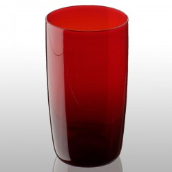 Artland Midnight Hiball Glass - long red tumblers
