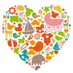 Baby Heart Wall Sticker - nursery wall decor