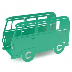 Campervan Magazine Rack - Green - mint magazine holder - Balvi