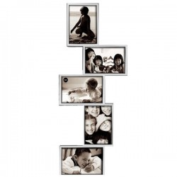 Isernia Tower Multi Frame - Silver multiple photo display