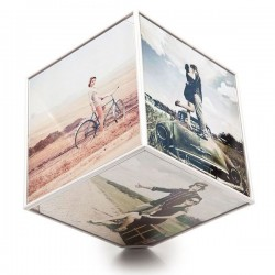 Kube Rotating Photo Display - spinning photo cube
