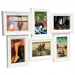Magic 6 Multi Photo Frame - white collage wall frame