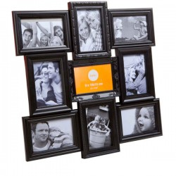 Magic 9 Multiple Photo Frame - designer black multi wall frame