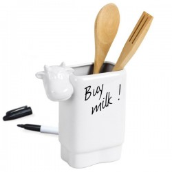 Moo Utensil Holder - cow design memo pot - Balvi