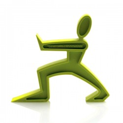 James the Doorman - Green - characterful door stop