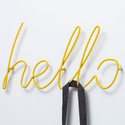 Block Hello Coat Rack (Yellow) - Red Candy