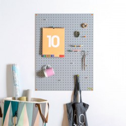 Block Large PegBoard (Grey) - Red Candy
