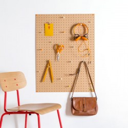 Block Large PegBoard in Natural - designer wooden memo board
