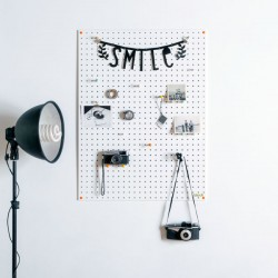 Block Large PegBoard (White) - Red Candy