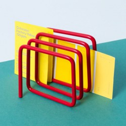 Block Letter Rack - Red - modern red envelope holder