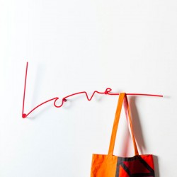 Block Love Coat Rack – red wire coat rack