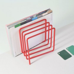 Block Magazine Rack - Red - funky magazine holder