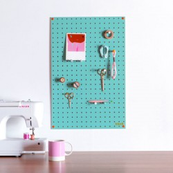 Block Medium PegBoard in Light Blue - modern wooden memo board