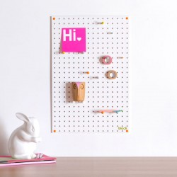 Block Medium PegBoard in White - modern white memo board
