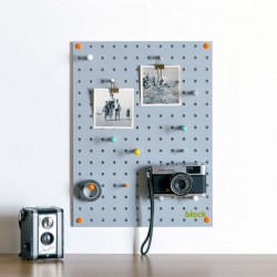 Block Small PegBoard (Grey) - Red Candy