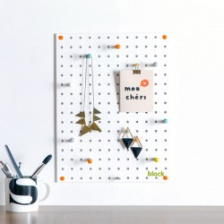 Block Small PegBoard in White - designer white memo board