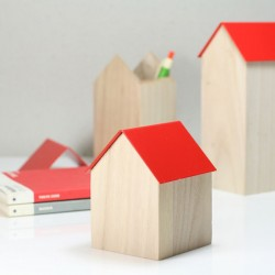 Block Storage House - Red - 3 Sizes Available - jewellery storage