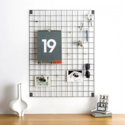 Block Wire Mesh Memo Board (Grey) - Red Candy