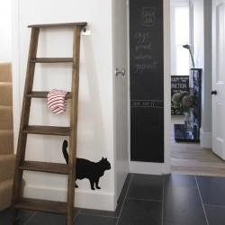 Black Cat Wall Sticker - Red Candy