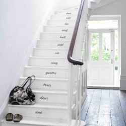 Hand Written Numbers Wall Sticker Set - Staircase Stickers