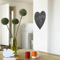Heart Blackboard Wall Sticker - Red Candy