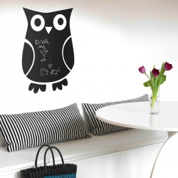 Owl Blackboard Wall Sticker - designer owl chalkboard wall decor