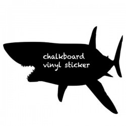 Shark Blackboard Wall Sticker - Red Candy