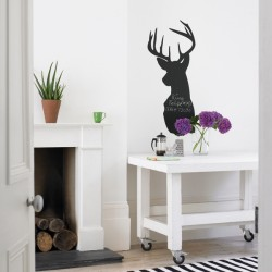 Stag Blackboard Wall Sticker - Stag Head Chalkboard Wall Transfer