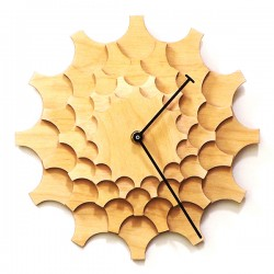 Cogwheel Wall Clock – natural wood designer clock