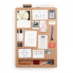 CorkFrame - Portrait - wall cork memo board - integrated shelf
