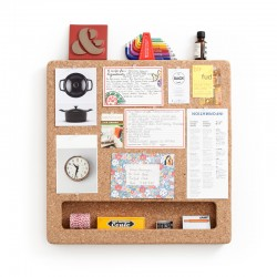 CorkFrame - Square - cork memo board - wall hanging pin board